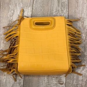 Maje - Mustard yellow handbag